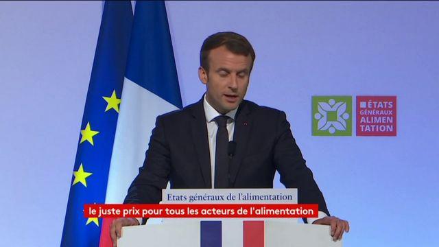 """Agriculture : E. Macron veut une nouvelle loi pour """"inverser la construction des prix"""""""