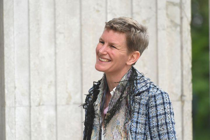 L'artiste Laure Prouvost à la 58e édition de la Biennale d'art contemporain de Venise, le 7 mai 2019 (FELIX H?RHAGER / DPA)