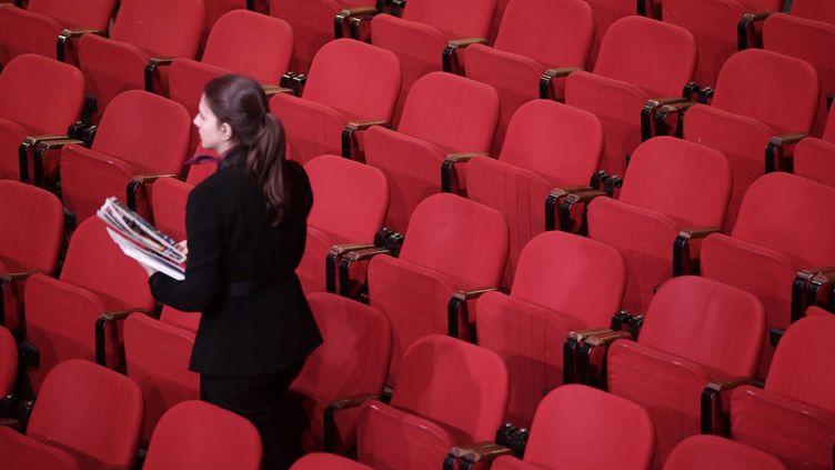 Un théâtre parisien. Illustration. (VINCENT ISORE / MAXPPP)