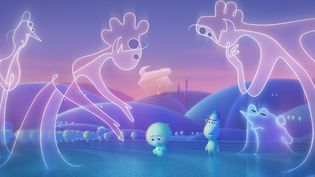 "Le monde du ""Grand Avant"" dans ""Soul"" de Pete Docter et Kemp Powers. (Copyright The Walt Disney Pictures / PIXAR)"