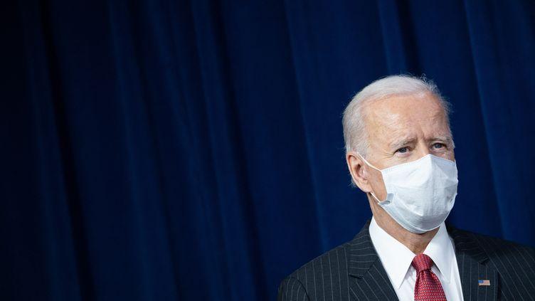 Le président américain Joe Biden lors d'une visite dans les bâtiments du Pentagone à Washington DC, le 10 février 2021. (SAUL LOEB / AFP)