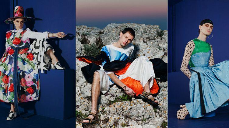 Danial Aitouganov, Marianna Ladreyt et Marine Serre, trois des 10 créateurs en lice pour la catégorie mode à Hyères 2017  (DR)