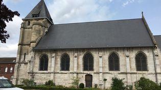 L'église deSaint-Etienne-du-Rouvray (Seine-Maritime), le 19 juillet 2017. (RAPHAEL GODET / FRANCEINFO)
