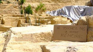 Sur le site de la Corderie, où a été découverte une carrière antique, le 4 août 2017, à Marseille. (CITIZENSIDE/DENIS THAUST / CITIZENSIDE)