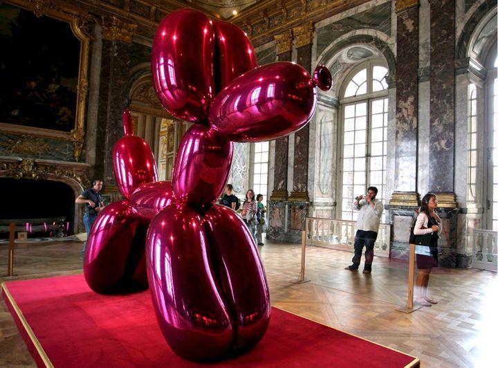 L'exposition Jeff Koons au château de Versailles (15 septembre 2010) (MAXPPP / GUY GIOS / MAXPPP FILE)