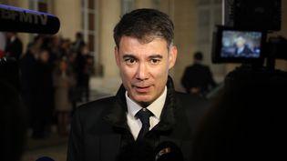 Le député de Seine-et-Marne, Olivier Faure, le 30 janvier 2018 à l'Assemblée. (LUDOVIC MARIN / AFP)