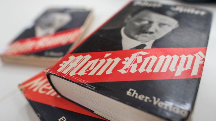 """(Pour la première fois depuis 1945, le livre """"Mein Kampf"""" est réédité © MaxPPP)"""