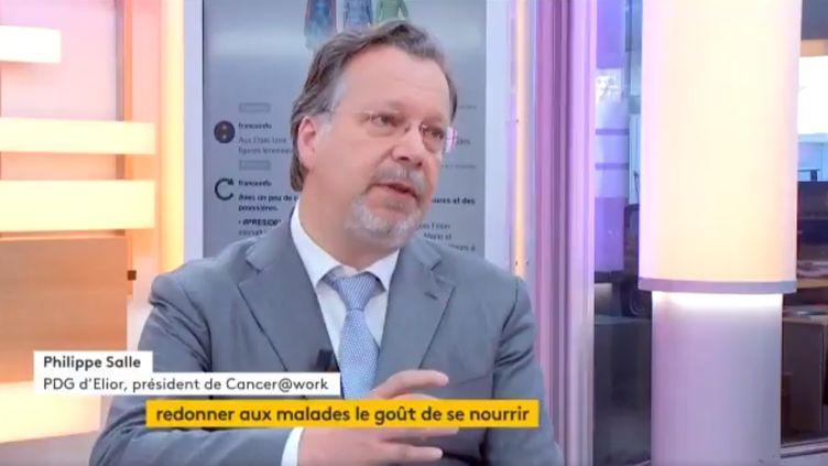 Philippe Salle, PDG du leader français de la restauration collective, Elior, et président de Cancer@work (FRANCEINFO)