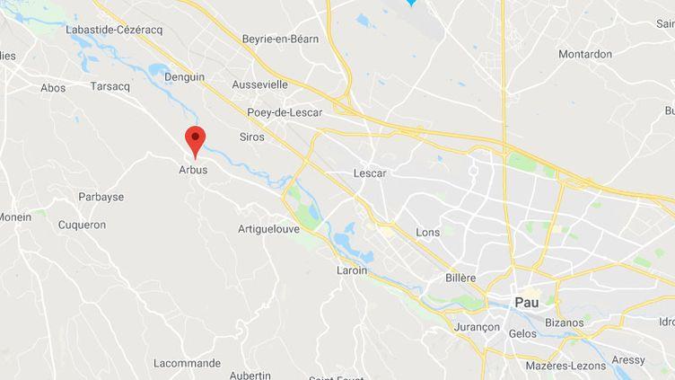 La commune d'Arbus, dans les Pyrénées-Atlantiques (GOOGLE MAPS)