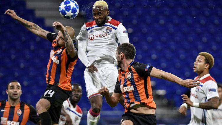 Moussa Dembélé le buteur lyonnais (JEFF PACHOUD / AFP)
