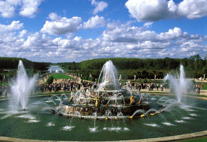 Spectacle des Grandes eaux dans leParc du Château de Versailles dans les Yvelines. Le bassin de Latone a été créé par les frères Marsy en 1670 (ROSINE MAZIN / AURIMAGES VIA AFP)