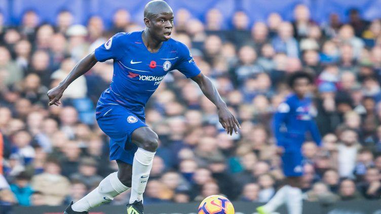 N'Golo Kanté lors d'un match entre Chelsea et Everton, le 11 novembre 2018 à Londres. (JANE STOKES / PRO SPORTS IMAGES LTD / AFP)