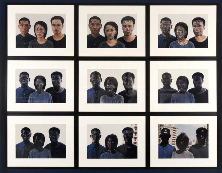 "ZHANG Huan ""Shanghai Family Tree"", 2000 9 Tirages chromogéniques (C.DEVLEESCHAUWER)"