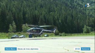 L'opération de secours dans le Mont-Blanc, le 2 août 2018. (FRANCE 3)