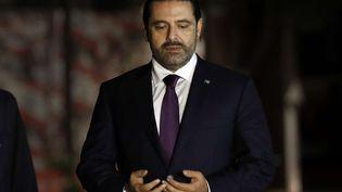 Le Premier ministre libanais Saad Hariri à Beyrouth (Liban), le 21 novembre 2017. (HUSSEIN MALLA/AP/SIPA)
