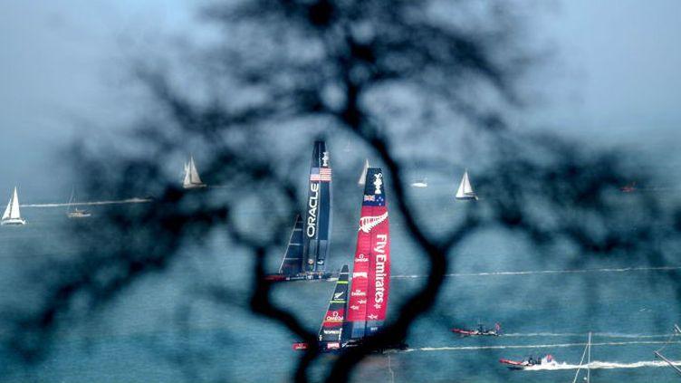 La lutte entre Emirates Team New Zealand et Oracle Team USA n'aura pas été si acharnée.