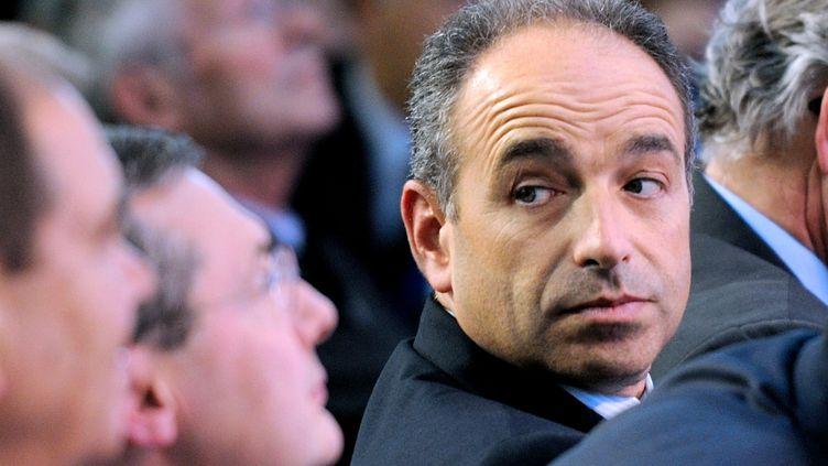 Jean-François Copé, candidat à la présidence de l'UMP, le 27 septembre 2012 à Marcq-en-Barœul(Nord). (DENIS CHARLET / AFP)