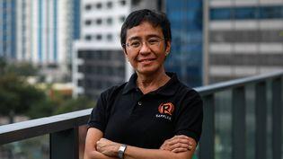 La journaliste philippineMaria Ressa, co-fondatrice de la plateforme numérique de journalisme d'investigation Rappler, et prix Nobel dela paix 2021. (MARK R. CRISTINO / EPA)