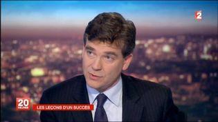 Arnaud Montebourg sur France 2, lundi 10 octobre 2011 (FRANCE 2 / AFP)