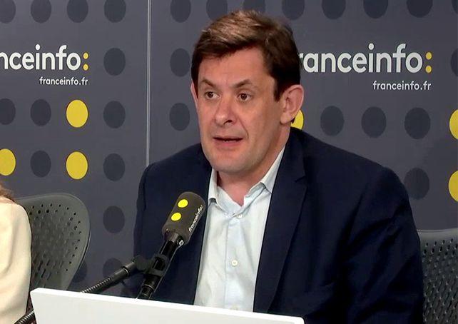 François Kalfon, conseiller régional socialiste d'Île-de-France, membre du bureau national du PS et co-fondateur de Gauche Nouvelle, était l'invité de franceinfo lundi 23 avril.  (FRANCEINFO)
