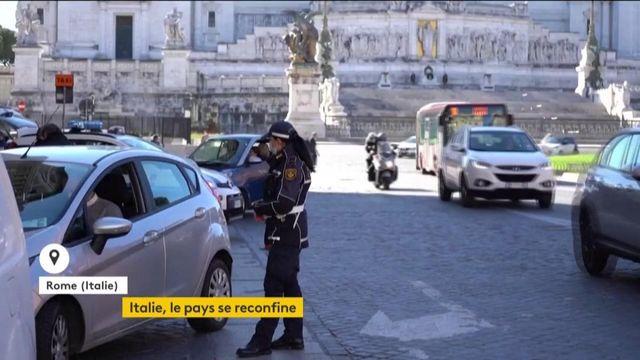 Covid-19 : premier jour de reconfinement en Italie