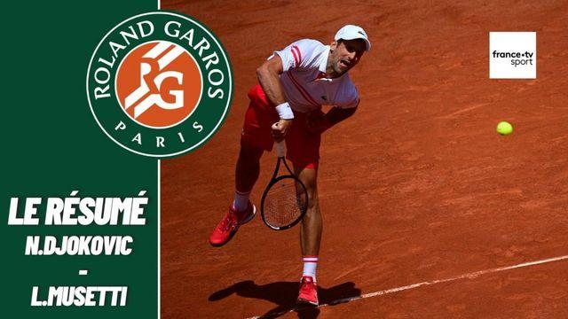 Les meilleurs moments du match Novak Djokovic - Lorenzo Musetti