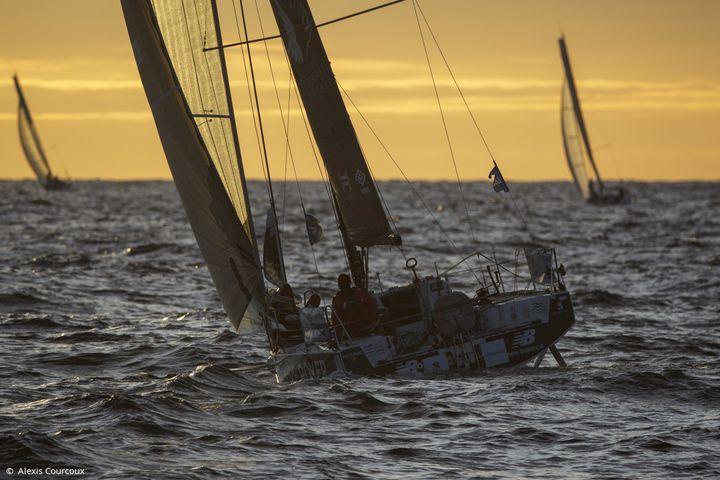 La flotte dimanche soir au large des côtes françaises