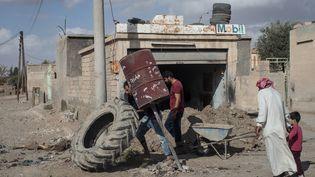 Dans les faubourgs de Rakka, après la libération, en octobre 2017. (CHRIS MCGRATH / GETTY IMAGES EUROPE)