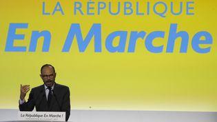 Le Premier ministre Edouard Philippe, lors d'une réunion La République en Marche à Paris le 8 juilet 2017. (FRANCOIS GUILLOT / AFP)