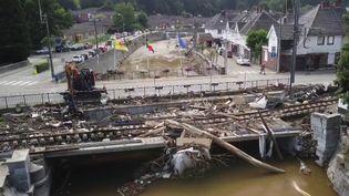 À Pepinster, en Belgique, après les inondations. (CAPTURE ECRAN FRANCE 2)