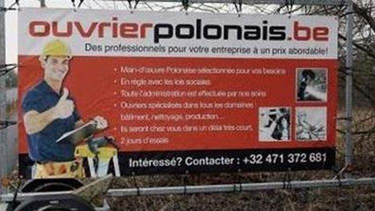 Publicité pour le site www.ouvrierpolinais.be (DR)