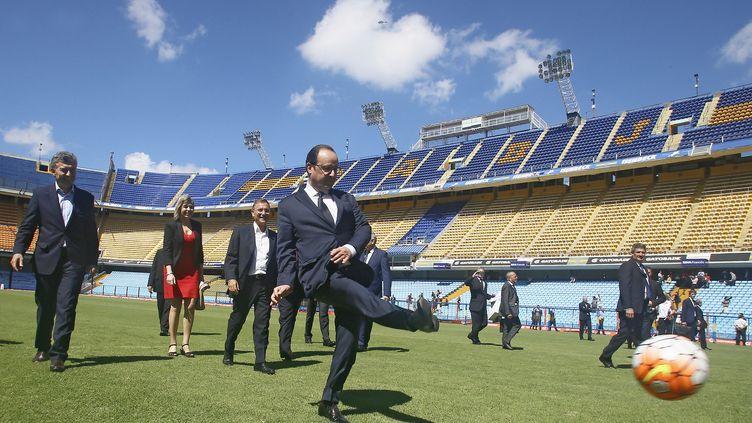 François Hollande, le 25 février 2016 àBuenos Aires (Argentine). (JAVIER GARCIA MARTINO / NA / AFP)
