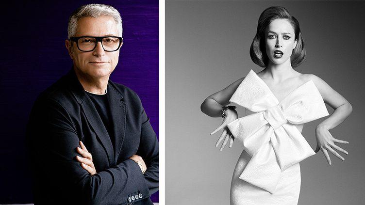 Serge Cajfinger et modèle Paule Ka automne-hiver 14-15  (Serge Cajfinger @ Sonia Sieff)