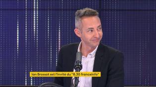 Ian Brossat, porte-parole du PCF, adjoint à la maire de Paris en charge du Logement, le 5 juin 2021 sur franceinfo. (FRANCEINFO / RADIO FRANCE)