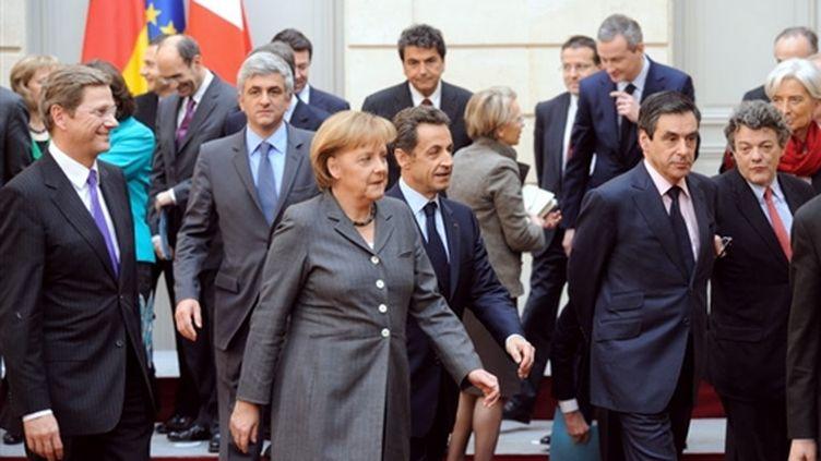 Un Conseil des ministres franco-allemand a réuni jeudi 4 février 2010 les deux gouvernements presque au complet. (AFP)