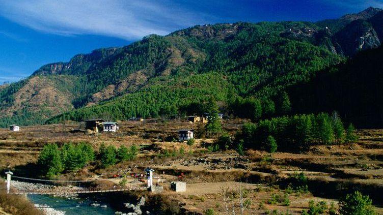 Les forêts du Bhoutan représentent plus de 70% du territoire de ce petit pays montagnard. (TIM GRAHAM / Robert Harding Heritage / AFP)
