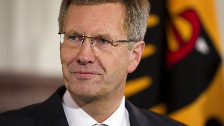 Le président de la République allemand Christian Wulff à Berlin (Allemagne), le 16 février 2012. (ODD ANDERSEN / AFP)