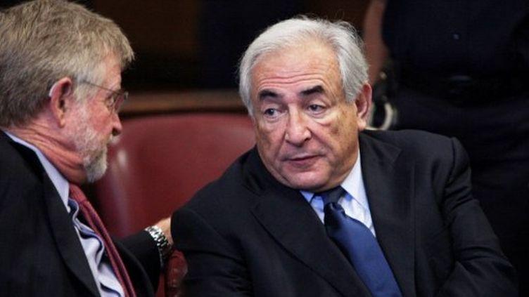 Me William Taylor et Dominique Straus-Kahn, le 6 juin 2011 (AFP - Allan Tannenbaum)