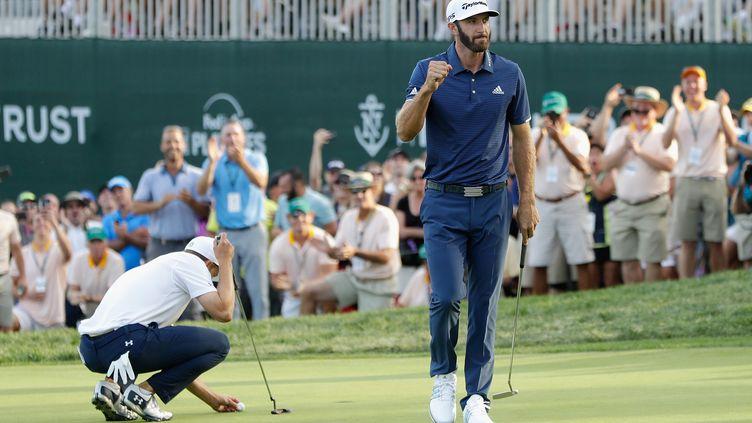 Le golfeur américain Dustin Johnson (JAMIE SQUIRE / GETTY IMAGES NORTH AMERICA)