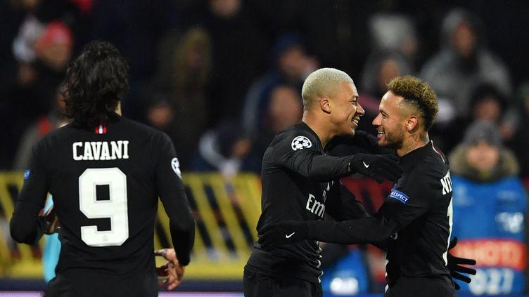 Cavani, Mbappé et Neymar (PSG) (ANDREJ ISAKOVIC / AFP)