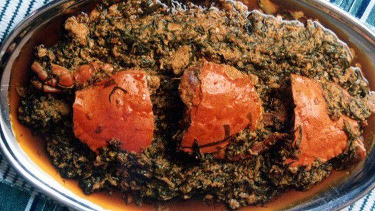 Plat à la sauce de feuilles de gboman (mangeracotonou.info / cuisine.abidjan.net)
