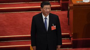 Le président chinois Xi Jinping au congrès du parti communiste, le 25 mai 2020. (NOEL CELIS / AFP)