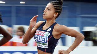 Floria Gueï, le 8 juillet 2016 lors des championnats d'Europe d'athlétisme d'Amsterdam (Pays-Bas). (PHILIPPE MILLEREAU / DPPI MEDIA)