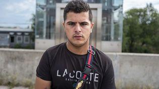 Sofiane, 17 ans, habitant de Villeubanne, le 1er septembre 2019. (ROMAIN LAFABREGUE / AFP)