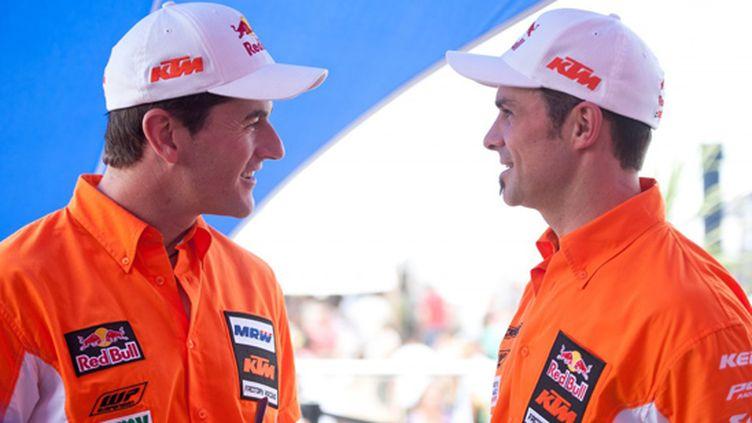 Marc Coma (à gauche) et Cyril Desprès (à droite)