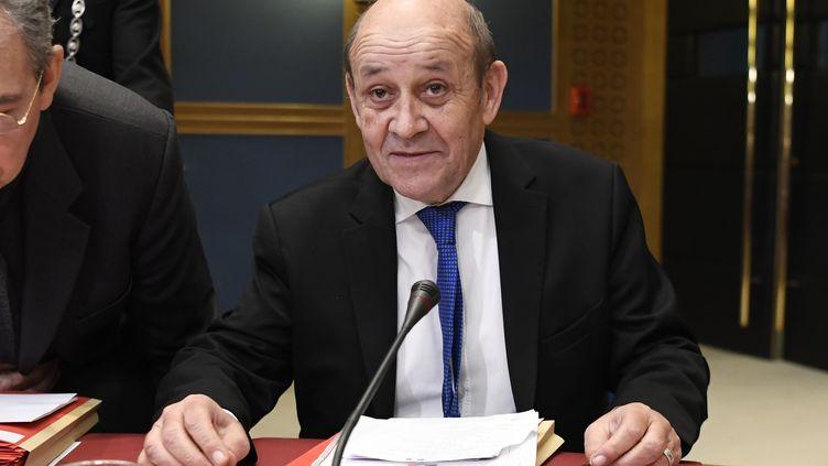 Jean-Yves Le Drian, le 16janvier 2019, au Sénat. (BERTRAND GUAY / AFP)