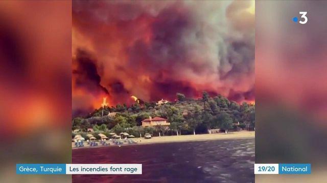 Grèce et Turquie : des incendies incontrôlables
