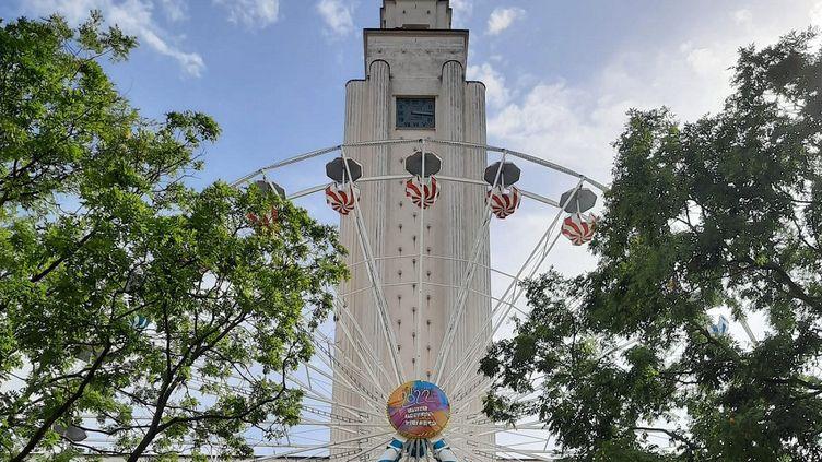 """La grande roue du festival """"Les Invites 2022"""". (Les Invites / Ville de Villeurbanne)"""