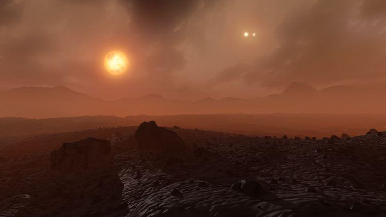Vue d'artiste de l'exoplanète Proxima Centauri b. (MARK GARLICK/SCIENCE PHOTO LIBRA / MGA / AFP)