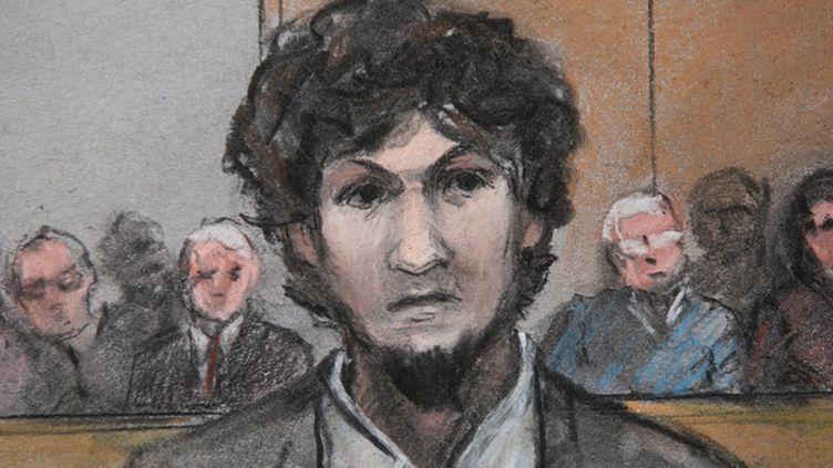 (Djokhar Tsarnaev à son procès. Il a formellement été condamné à mort le 24 juin 2015. © Maxppp)